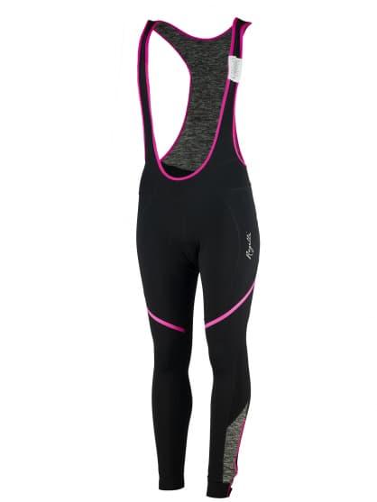 Dámske cyklistické nohavice Rogelli CAROU s gélovou cyklovýstelkou, čierno-šedo-ružové