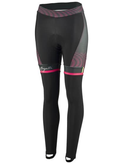 Exkluzívne dámske cyklistické nohavice Rogelli BELLA s gélovou cyklovýstelkou, čierno-ružové