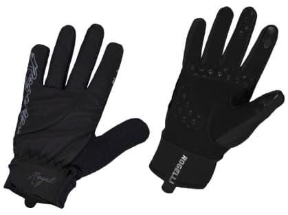 Dámske zimné gélové cyklistické rukavice Rogelli STORM, čierne