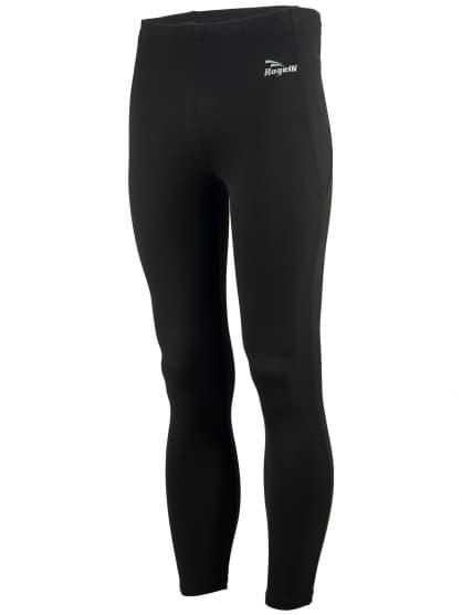 Pánske bežecké nohavice Rogelli TRAIL s vodoodpudivou povrchovou úpravou DWR, čierne