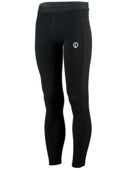 Pánske bežecké nohavice Rogelli POWER s vynikajúcim strihom, čierne