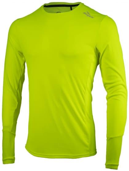 Športové funkčné tričko Rogelli BASIC s dlhým rukávom, reflexné žlté