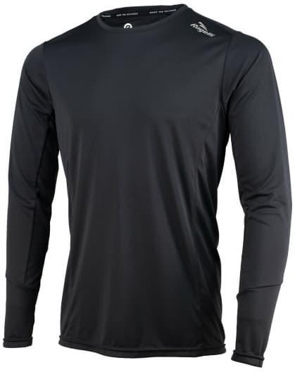 Športové funkčné tričko Rogelli BASIC s dlhým rukávom, čierne