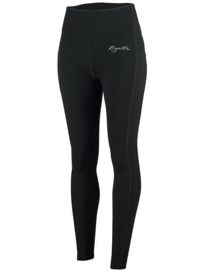 Dámske bežecké nohavice Rogelli POWER s vynikajúcim strihom, čierne