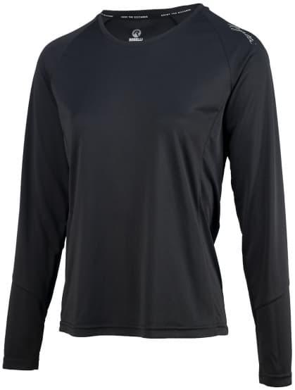 Dámske športové funkčné tričko Rogelli BASIC s dlhým rukávom, čierne
