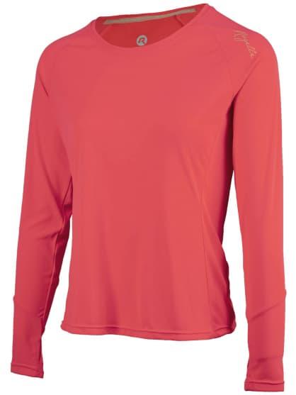 Dámske športové funkčné tričko Rogelli BASIC s dlhým rukávom, ružové