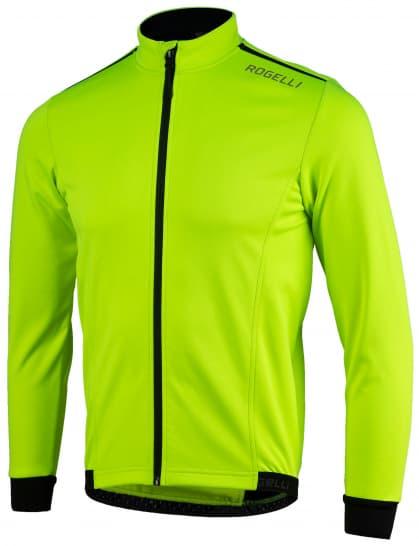 Ľahká softshellová bunda s priedušným chrbtovým panelom Rogelli PESARO 2.0, reflexná žltá