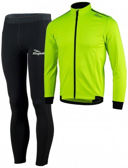 Zimné bežecké oblečenie Rogelli PESARO 2.0, vhodné na bežky, reflexné žlté