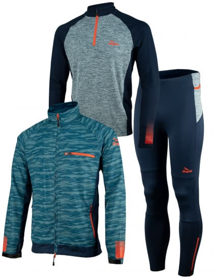 Pánske bežecké oblečenie Rogelli BROADWAY, modro-červené