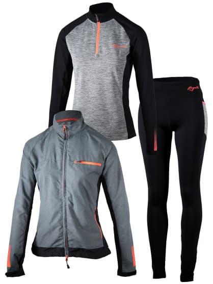 Dámske bežecké oblečenie Rogelli DYNAMIC, šedo-ružové