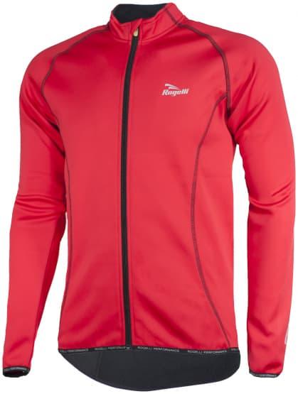 Ľahká softshellová bunda s priedušným chrbtovým panelom Rogelli PESARO, čierno - červená