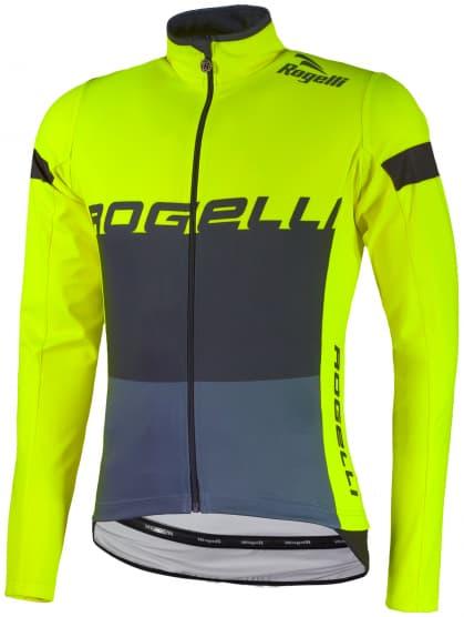 Nepremokavý cyklodres Rogelli HYDRO s dlhým rukávom, reflexný žltý