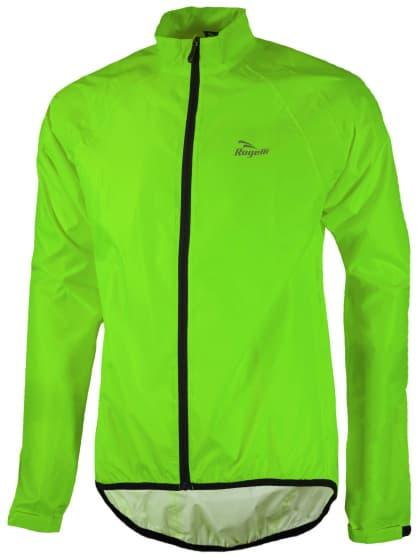 Ultraľahká cyklistická pláštenka s podlepeným švami Rogelli TELLICO, reflexná zelená