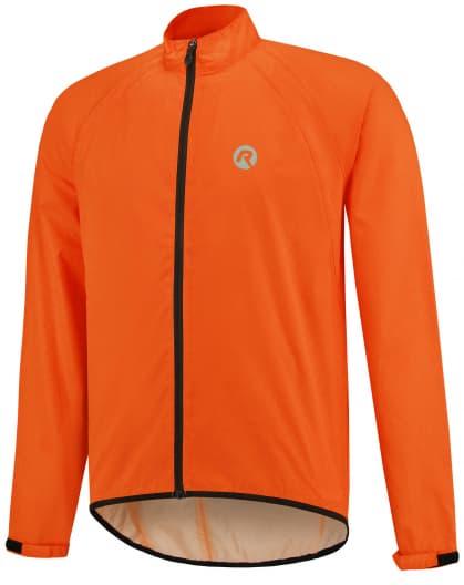 Ľahká cyklistická pláštenka s podlepeným švami Rogelli TELLICO, reflexná oranžová