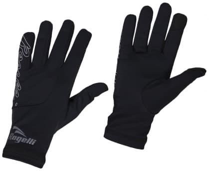 Športové rukavice Rogelli ONTARIO, čierno-reflexno žlté