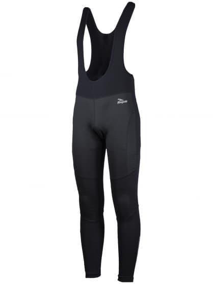 Softshellové cyklo nohavice Rogelli FONDO s gélovou cyklovýstelkou, čierne