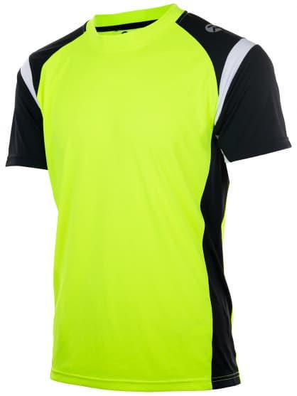 Funkčné tričko Rogelli DUTTON, reflexno žlté-čierno-biele
