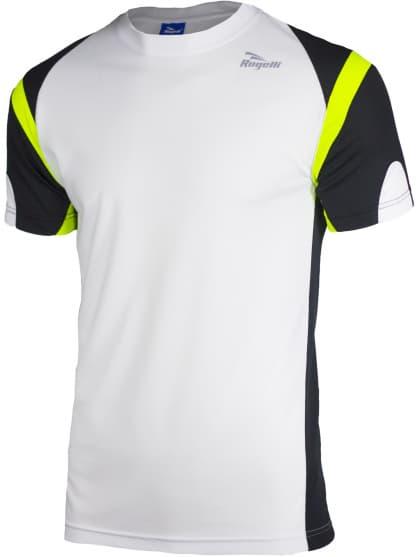 Funkčné tričko Rogelli DUTTON, bielo-čierno-reflexné žlté