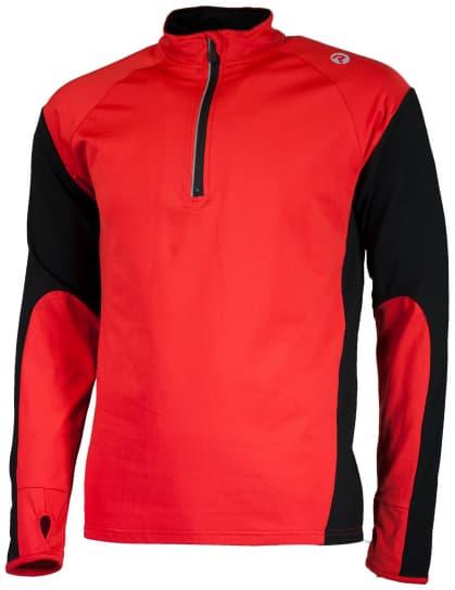 Športová mikina Rogelli DILLON, červeno-čierna