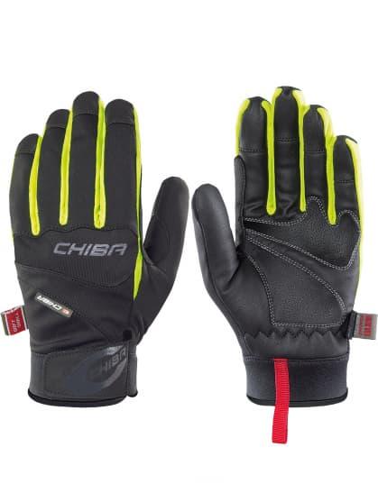 Softshellové rukavice Chiba TOUR PLUS, čierno-reflexné žlté