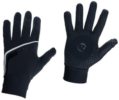 Tenké softshellové zimné rukavice s protisklzovou dlaňou Rogelli BURLINGTON, čierne