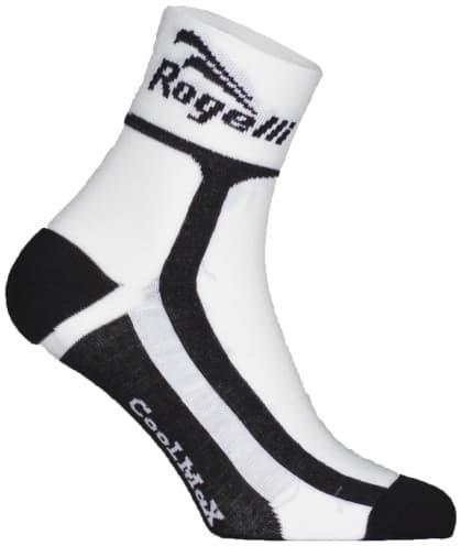 Mierne hrejivé funkčné ponožky Rogelli COOLMAX, bielo-čierne