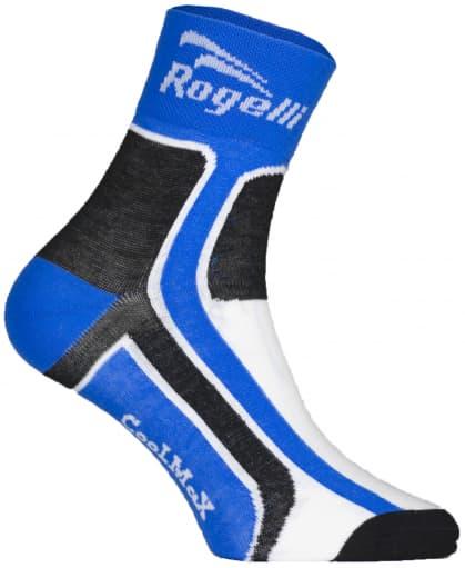 Mierne hrejivé funkčné ponožky Rogelli COOLMAX, modré