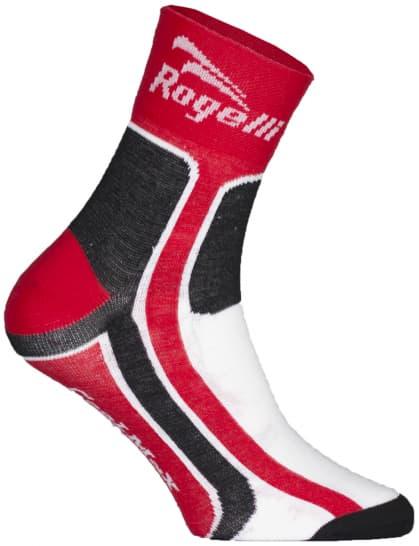 Mierne hrejivé funkčné ponožky Rogelli COOLMAX, červené