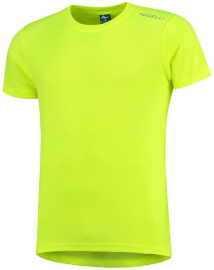 Detské funkčné tričko Rogelli PROMOTION, reflexné žlté