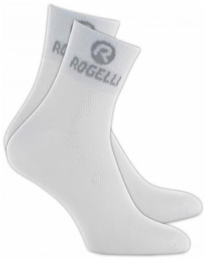 Ponožky s extra vysokou priedušnosťou Rogelli COOLMAX, biele