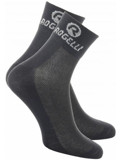 Ponožky s extra vysokou priedušnosťou Rogelli COOLMAX, čierne