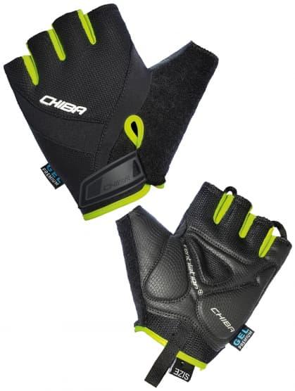 Cyklistické rukavice Chiba AIR PLUS, čierne