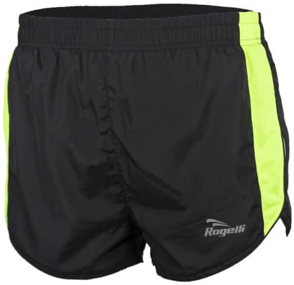 Bežecké šortky Rogelli FIRENZE, čierno-reflexné žlté