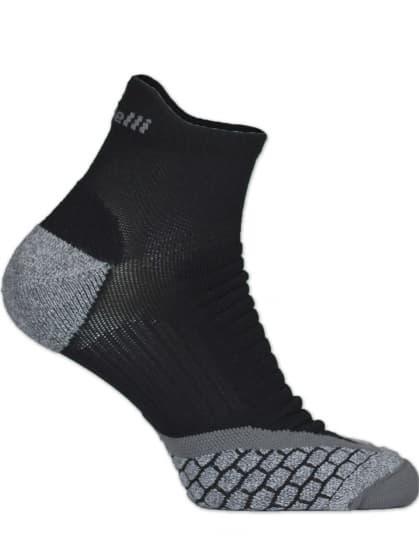 Špeciálne stredne hrejivé ponožky so zosilneným priehlavkom, špičkou a pätou Rogelli COOLMAX RUN LOW, čierno-šedé