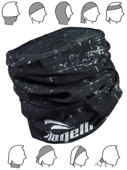 Multifunkčná bezšvová šatka Rogelli SCARF, čierna