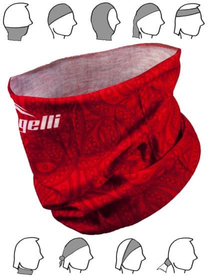 Multifunkčná bezšvová šatka Rogelli SCARF, červená