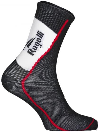 Stredne hrubé funkčné ponožky s miernou kompresiou Rogelli THERMOCOOL, čierne