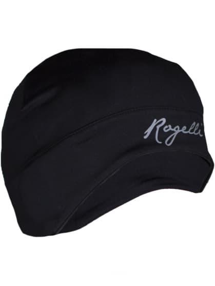 Dámska elastická čiapka s otvorom na vlasy Rogelli ZORA, čierna