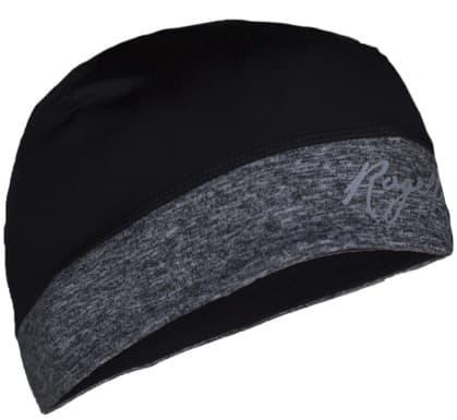Dámska elastická čiapka s otvorom na vlasy Rogelli MAXIE, čierno-šedá