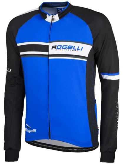 Cyklistický dres Rogelli ANDRANO, dlhý rukáv, modrý