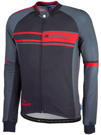 Cyklistický dres Rogelli ANDRANO, dlhý rukáv, červený