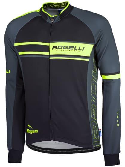 Cyklistický dres Rogelli ANDRANO, dlhý rukáv, reflexný žltý