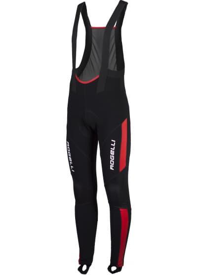 Zateplené cyklonohavice so softshellovými kolenami Rogelli TRAVO s gélovou cyklovýstelkou, čierno-červené