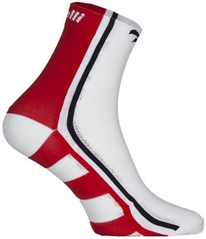 Antibakteriálne funkčné ponožky s miernou kompresiou Rogelli Q-SKIN, červené