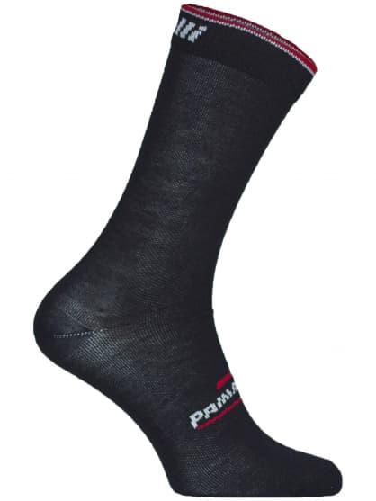 Stredne hrubé funkčné ponožky Rogelli PRIMALOFT, čierno-červené