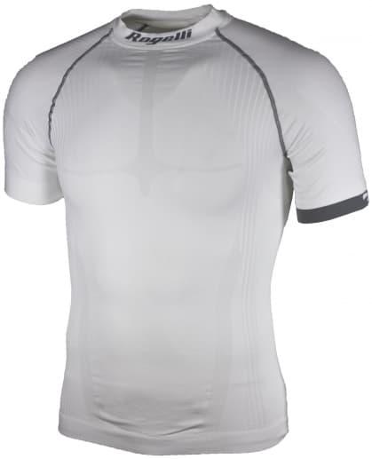 KOMPRESNÉ funkčné tričko Rogelli, krátky rukáv, bielo-šedé