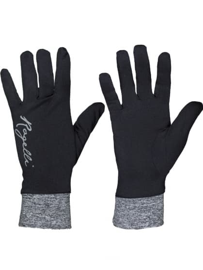 Extra tenké dámske rukavice Rogelli MARTA, čierno-šedé
