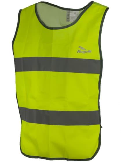 Bezpečnostná vesta s priedušným chrbtom Rogelli MAPLETON, reflexná žltá