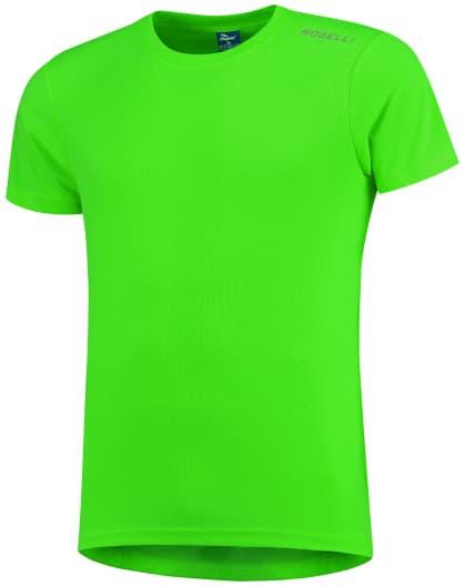Detské funkčné tričko Rogelli PROMOTION, reflexné zelené