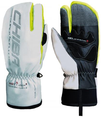 Trojprstové silno hrejivé zimné rukavice Chiba ALASKA PLUS, strieborné